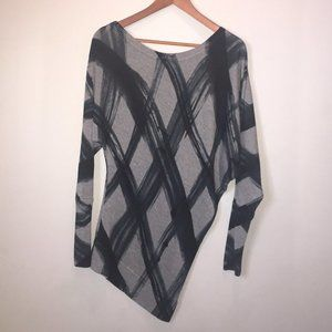 Le Chateau Asymmetrical Tunic Sweater